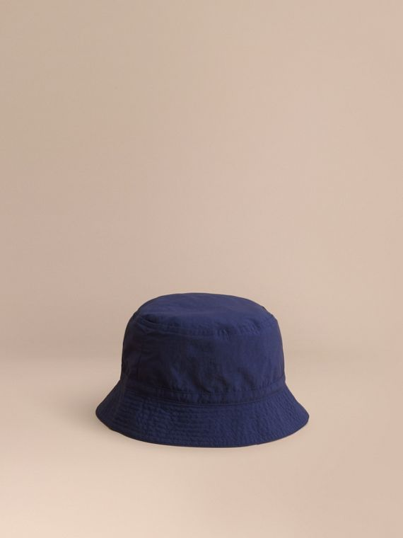 Check Detail Bucket Hat in Indigo