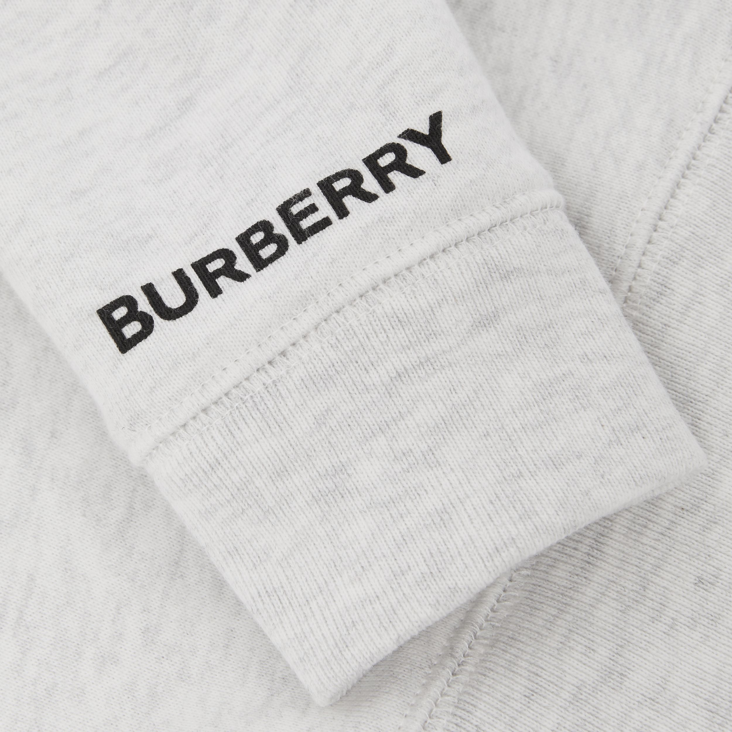 Deer Print Cotton Sweatshirt in White Melange - Children | Burberry - 2