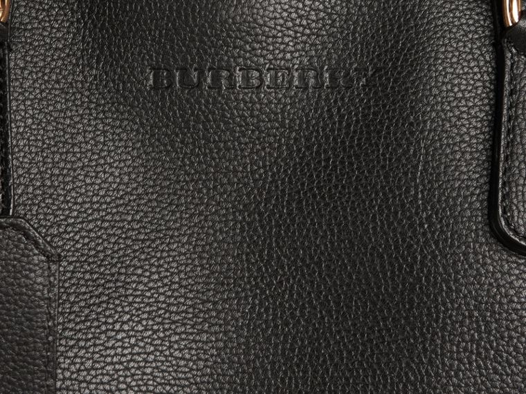 Black Grainy Leather Holdall Black - cell image 1
