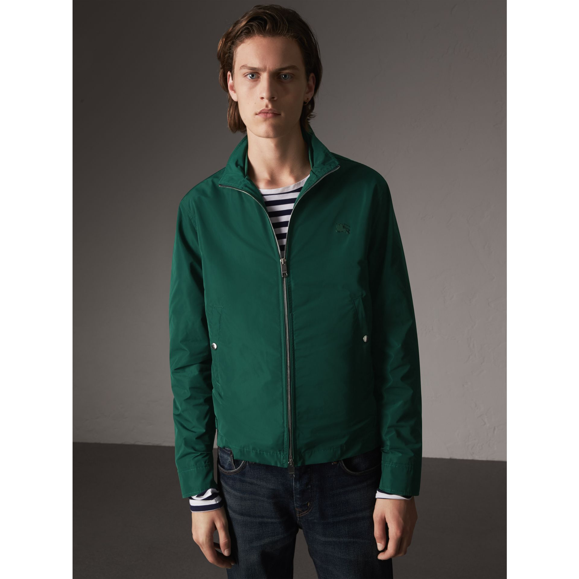 Lightweight Technical Jacket in Racing Green - Men | Burberry - gallery image 1