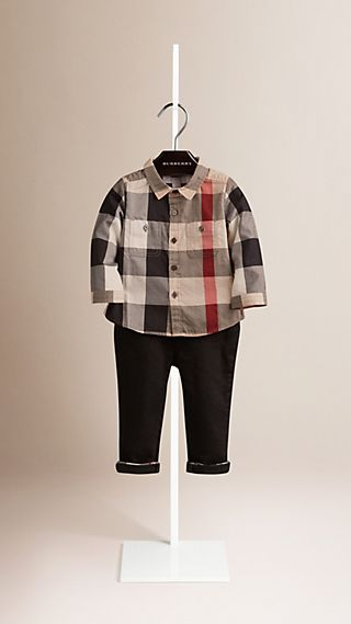 Camisa de checks en algodón
