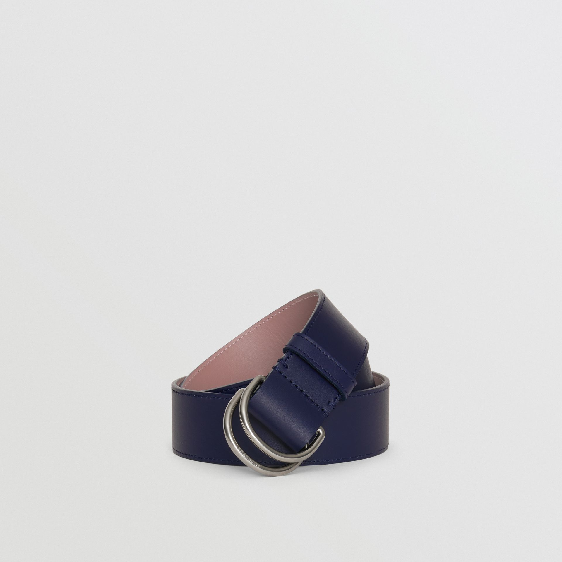 Leather Double D-ring Belt in Regency Blue/mauve - Women | Burberry - gallery image 0