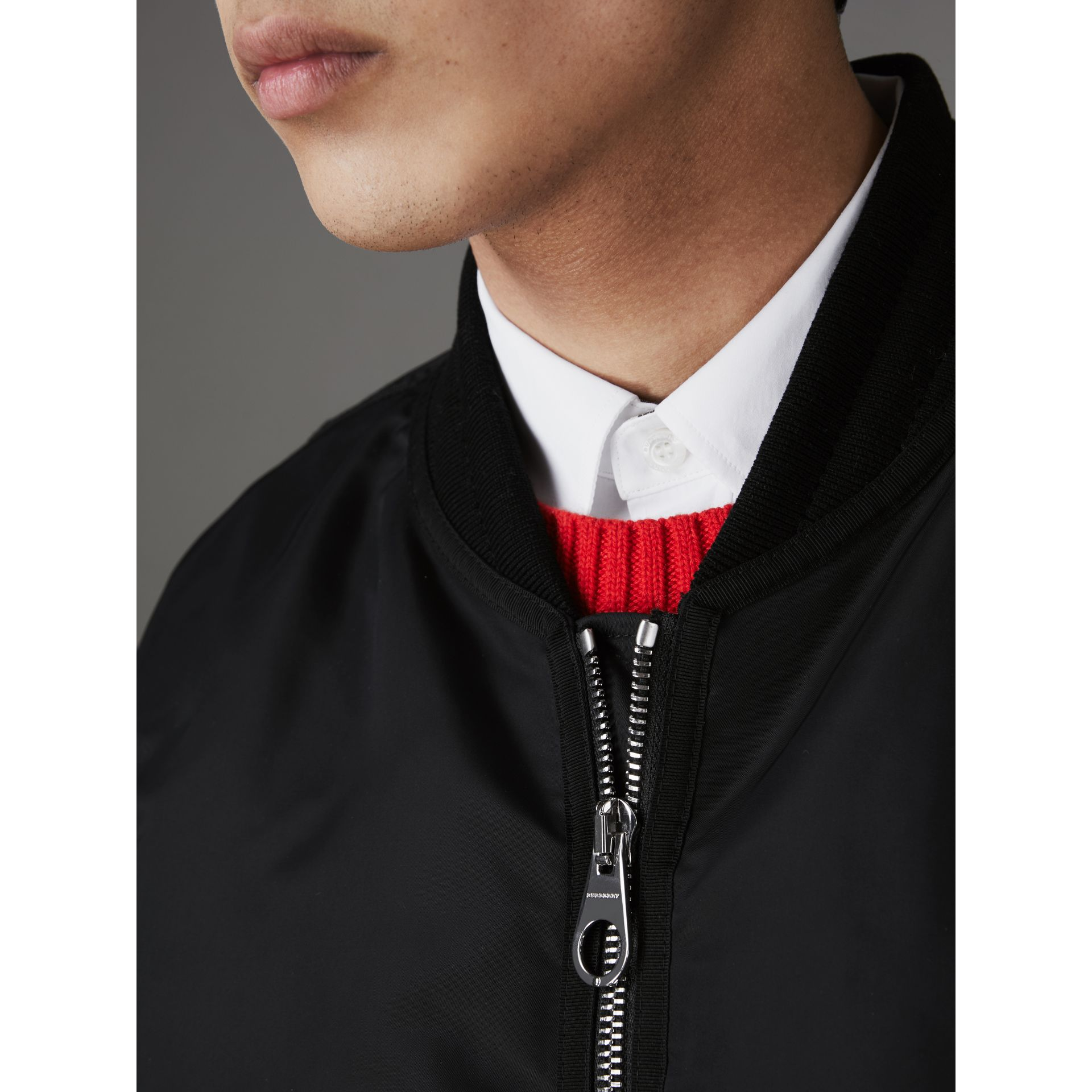Nylon Bomber Jacket in Black - Men | Burberry - gallery image 3