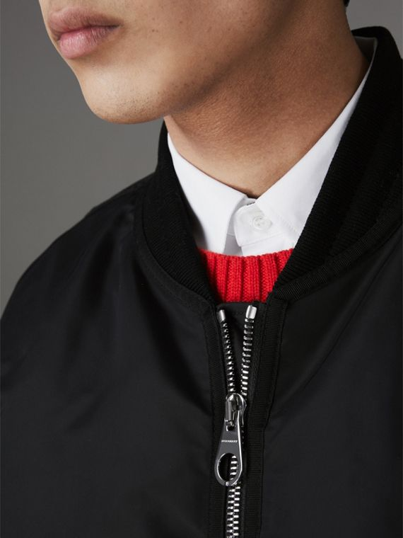 Nylon Bomber Jacket in Black - Men | Burberry - cell image 3