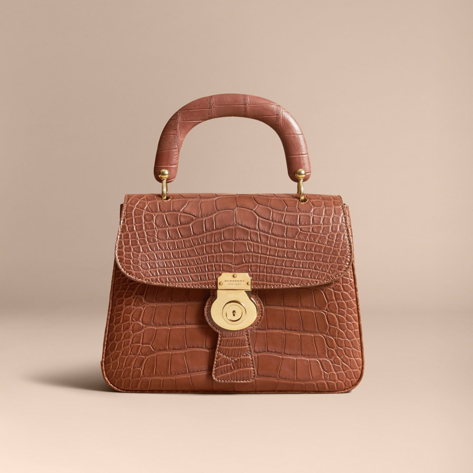 The Medium DK88 Top Handle Bag in Alligator in Tan - Women | Burberry United Kingdom - gallery image 6