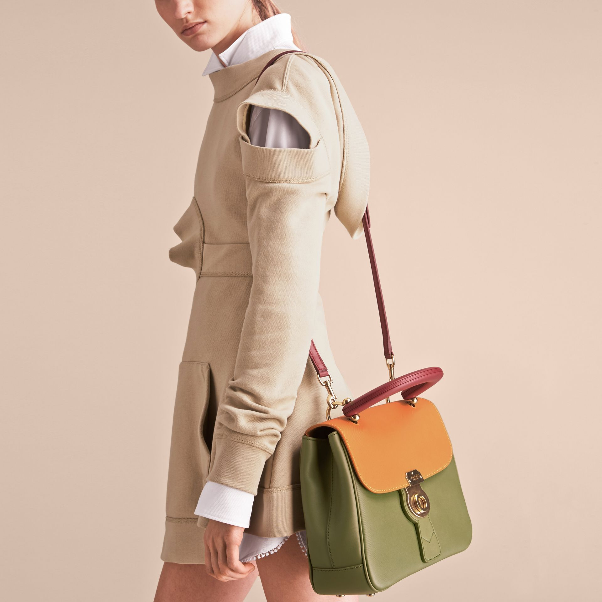 The Medium DK88 Top Handle Bag in Moss Green/ochre Yellow - Women | Burberry - gallery image 7