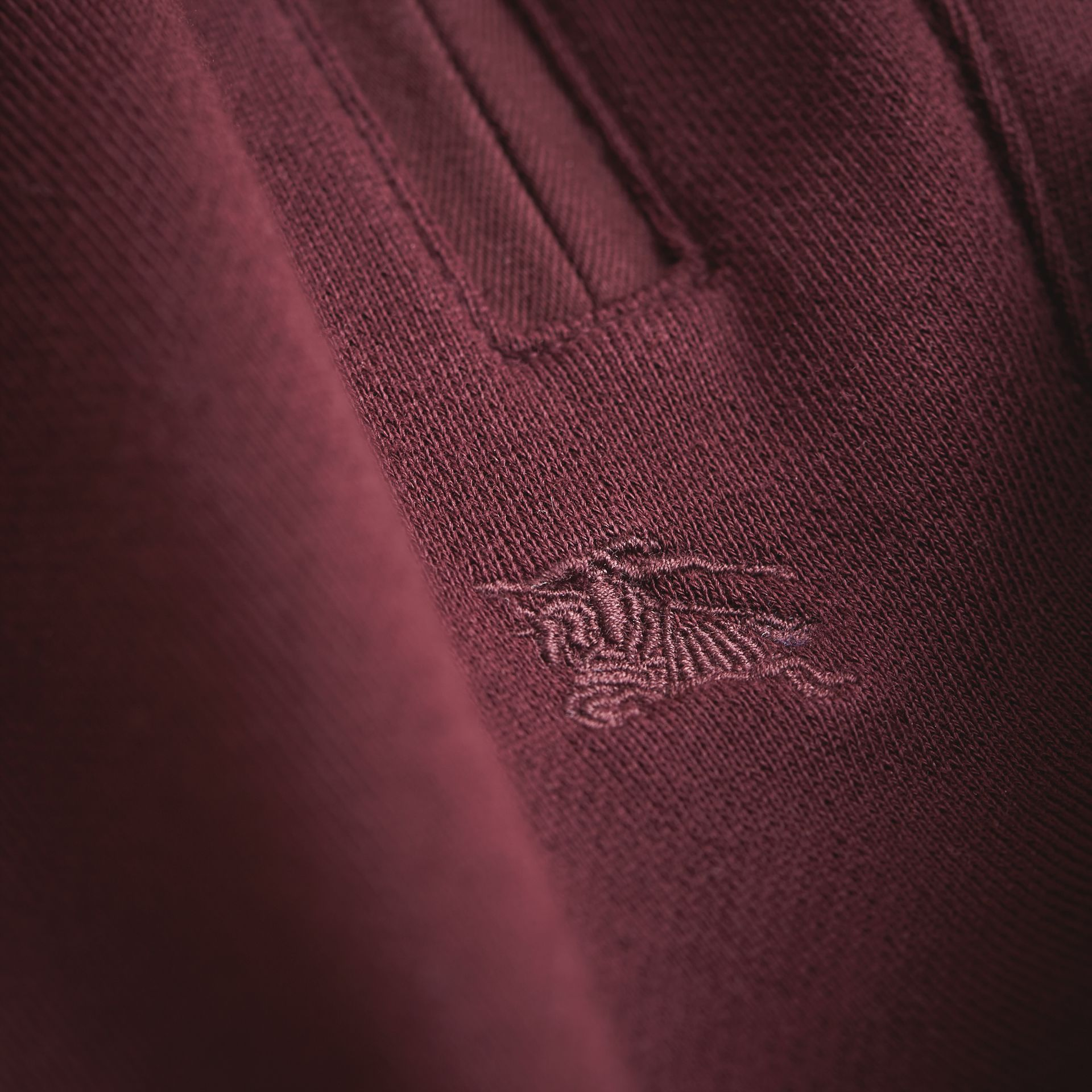 Drawcord Cotton Sweatpants in Burgundy - Boy | Burberry - gallery image 2