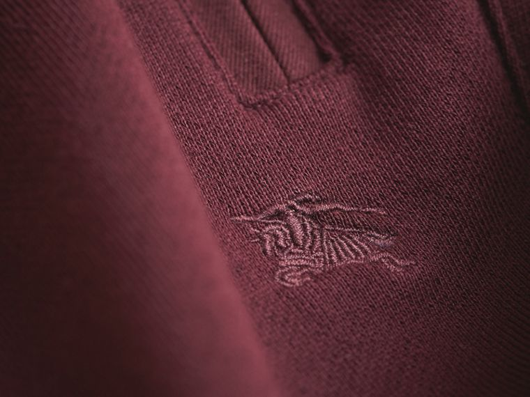 Drawcord Cotton Sweatpants in Burgundy - Boy | Burberry Australia - cell image 1