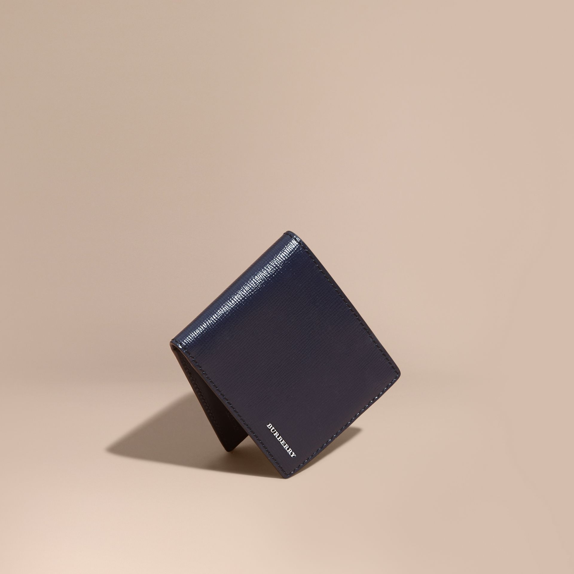 London Leather Bifold Wallet in Dark Navy - gallery image 1