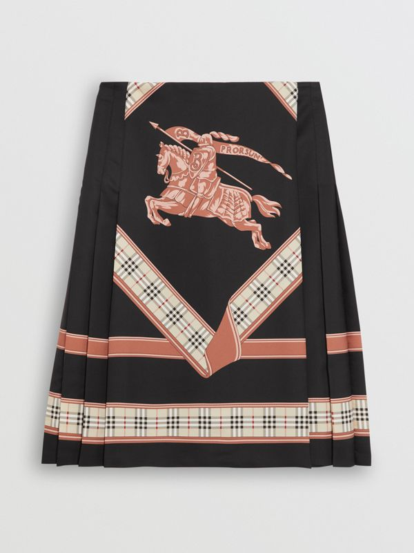 Archive Scarf Print Kilt in Multicolour - Women | Burberry - cell image 3