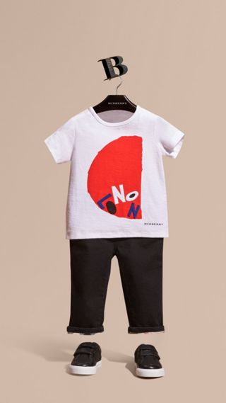 London Graphic Print Cotton T-Shirt