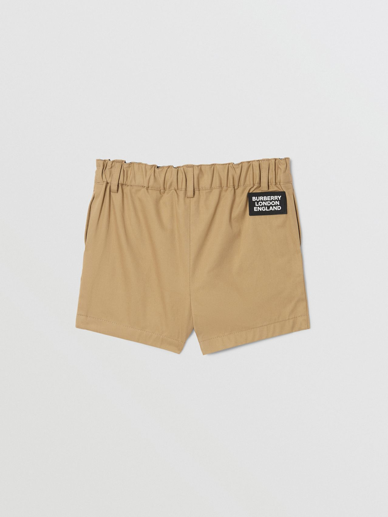 Logo Appliqué Cotton Twill Tailored Shorts (Archive Beige)