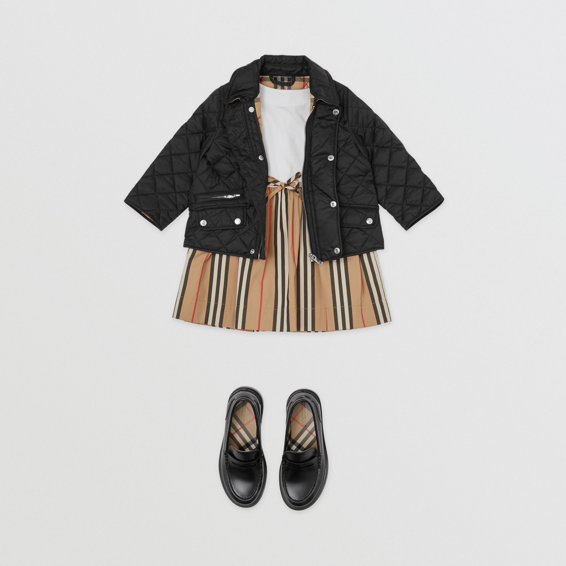 Lightweight Diamond Quilted Jacket in Black - Children | Burberry United States - gallery image 2