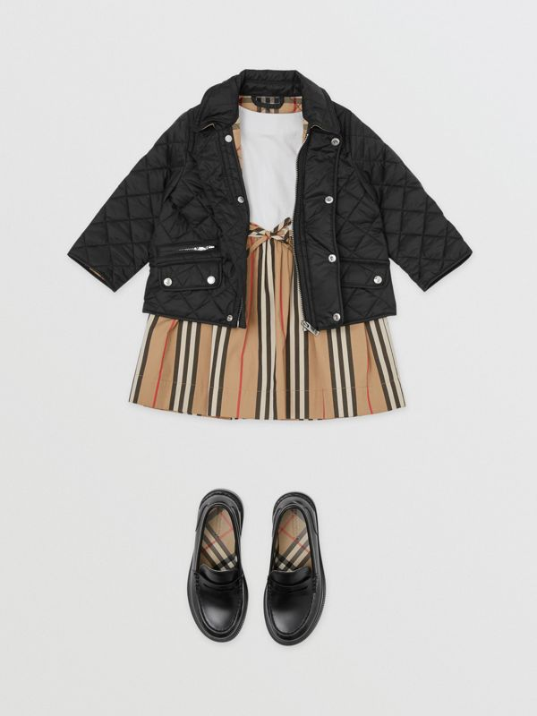 Lightweight Diamond Quilted Jacket in Black - Children | Burberry United States - cell image 2