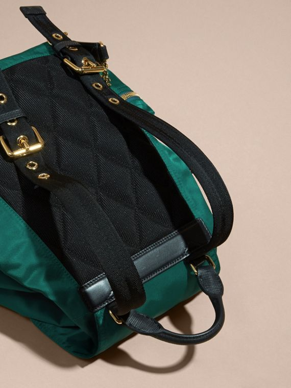 The Medium Rucksack in Technical Nylon and Leather - cell image 3