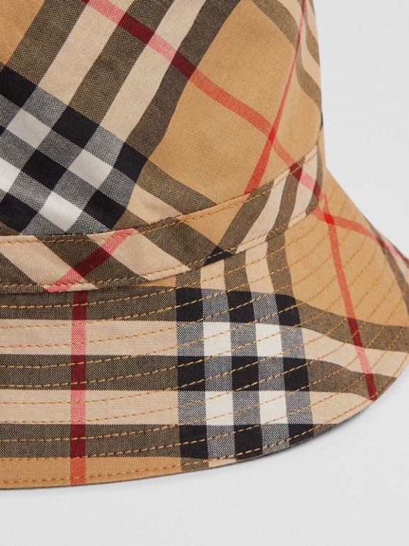 Vintage Check Bucket Hat in Antique Yellow - Children | Burberry - cell image 1