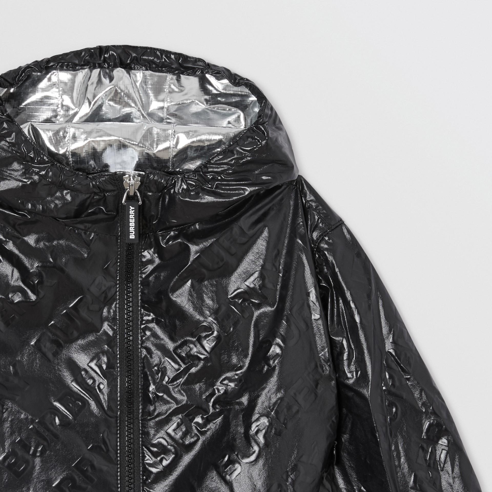 Logo Print Lightweight Hooded Jacket in Black - Children | Burberry United Kingdom - gallery image 5