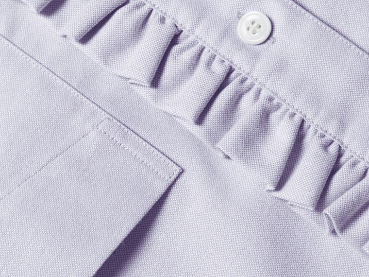 Ruffle Detail Cotton Oxford Shirt - cell image 1