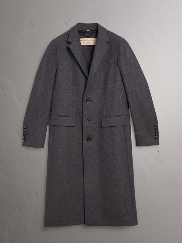 Casaco de lã mesclada (Cinza Escuro Mesclado) - Homens | Burberry - cell image 3