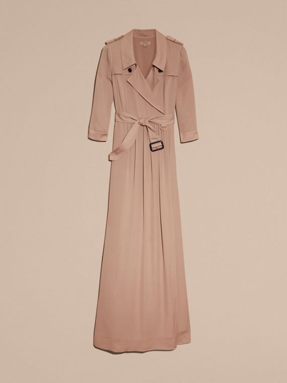 Silk Trench Dress in Nude - Women | Burberry - cell image 3