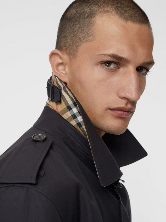 Cotton Gabardine Trench Coat with Warmer in Midnight - Men | Burberry United Kingdom - cell image 1
