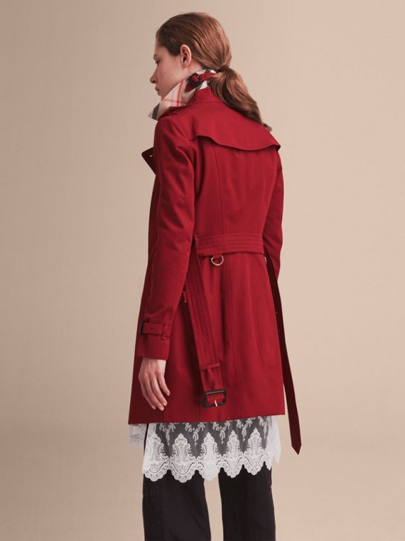 Trench coat Sandringham - Trench coat Heritage de longitud media Rojo Desfile - cell image 2