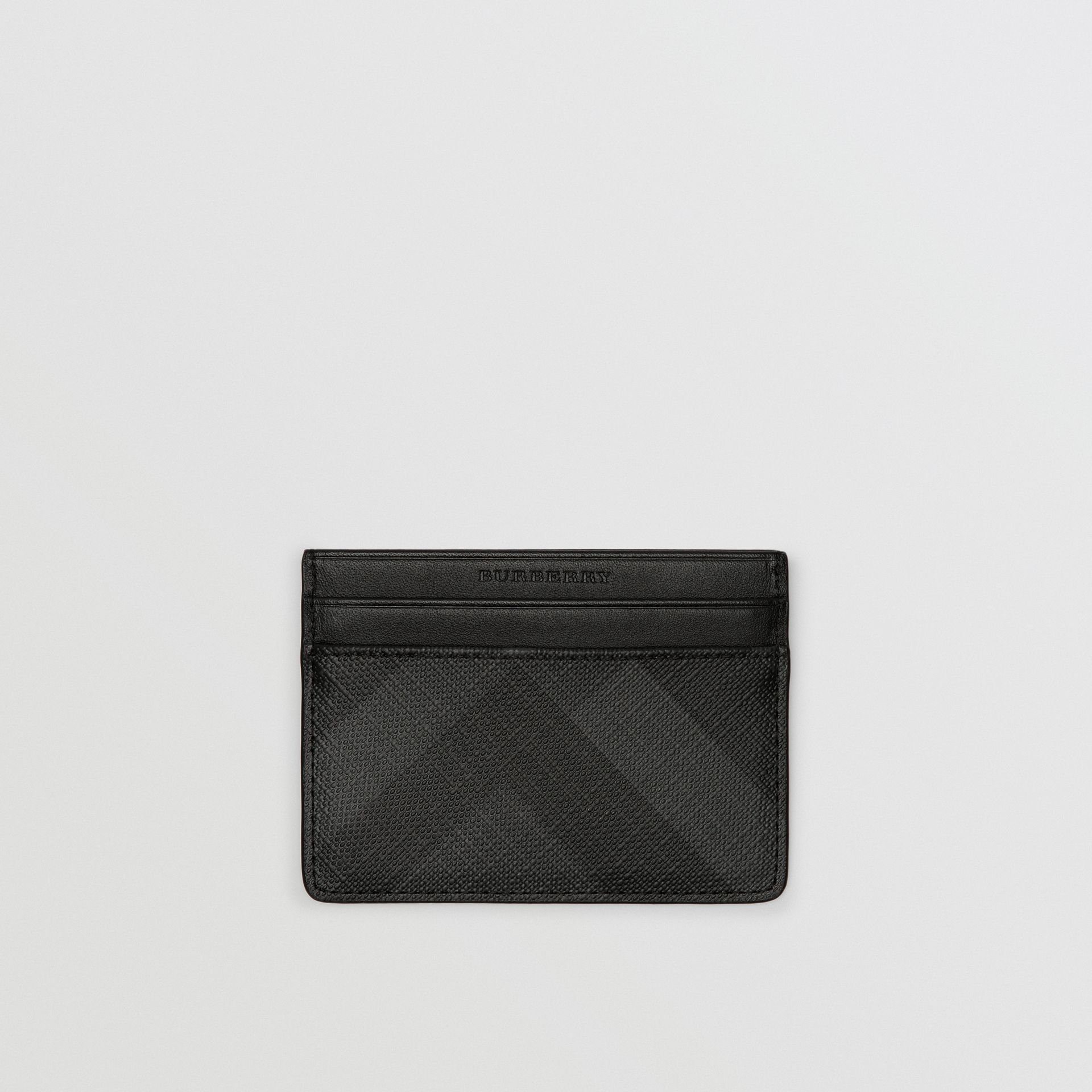 London Check Card Case in Charcoal/black - Men | Burberry Singapore - gallery image 0