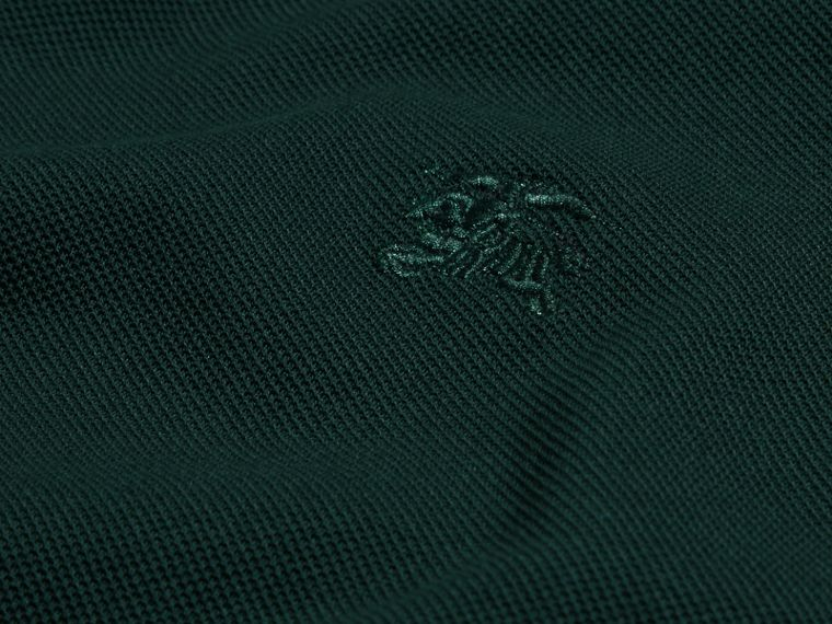 Racing green Colour-block Cotton Piqué Polo Shirt Racing Green - cell image 1