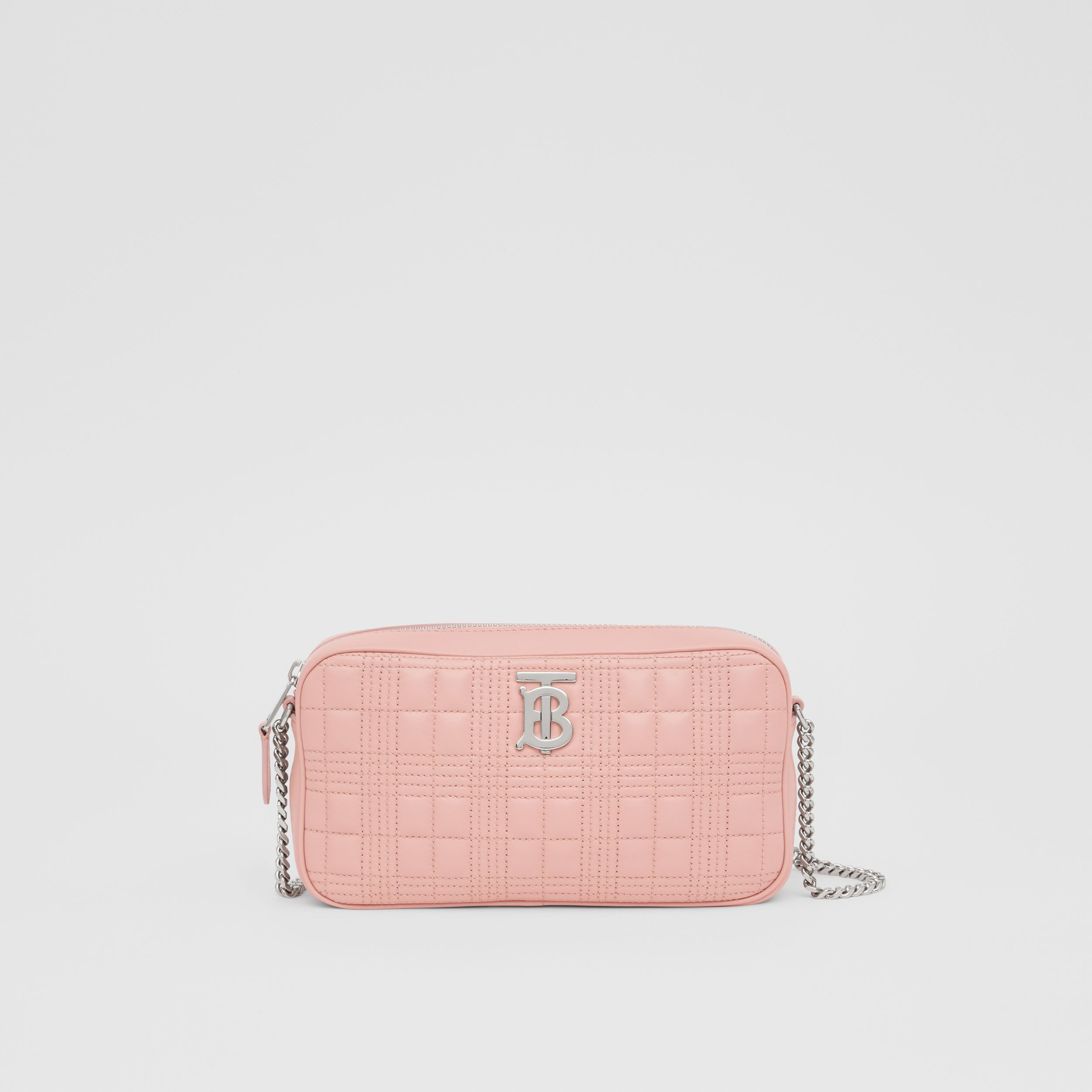 Quilted Lambskin Camera Bag in Blush Pink - Women | Burberry Australia - 1