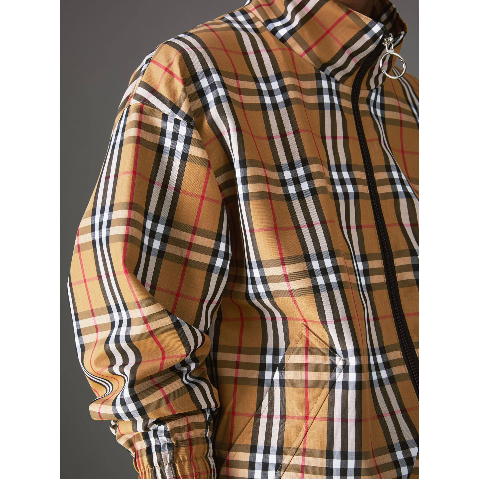 Vintage Check Lightweight Jacket in Antique Yellow - Men | Burberry United Kingdom - gallery image 4