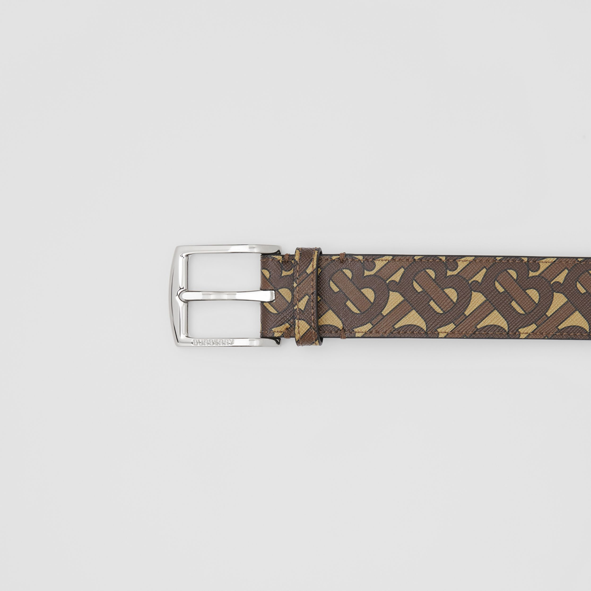 Monogram E-canvas Belt in Bridle Brown - Men | Burberry - 2
