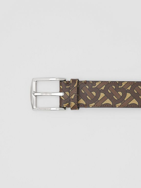 Monogram E-canvas Belt in Bridle Brown - Men | Burberry Singapore - cell image 1