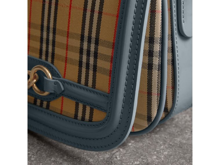 The 1983 Check Link Bag with Patent Trim in Blue Sage - Women | Burberry - cell image 1
