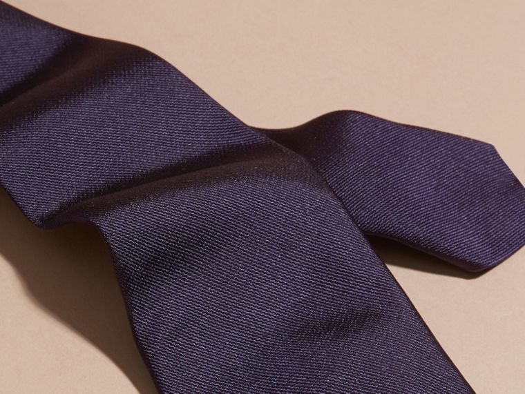 海軍藍 現代剪裁絲質斜紋領帶 海軍藍 - cell image 1