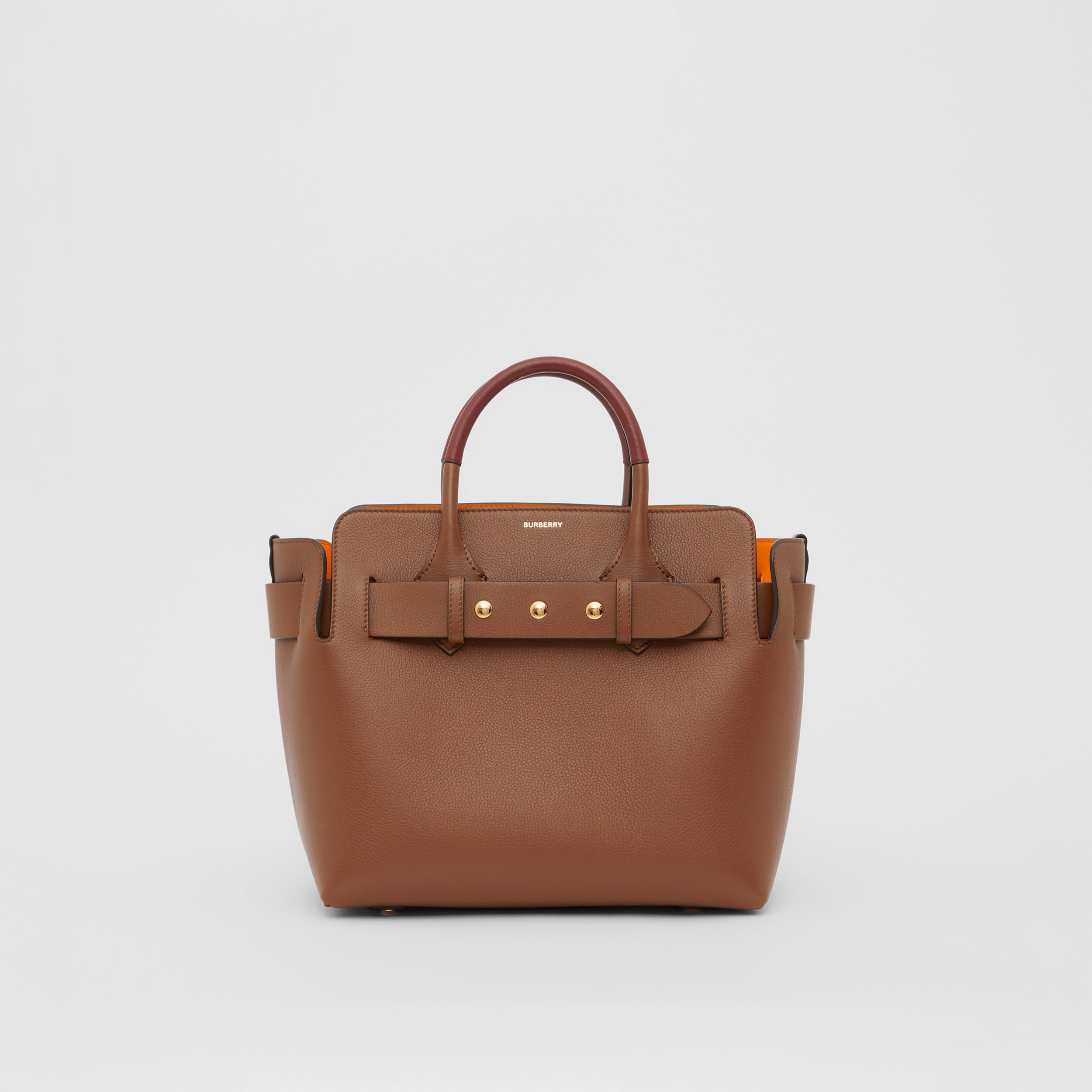 The Small Leather Triple Stud Belt Bag in Tan - Women | Burberry Australia - 1