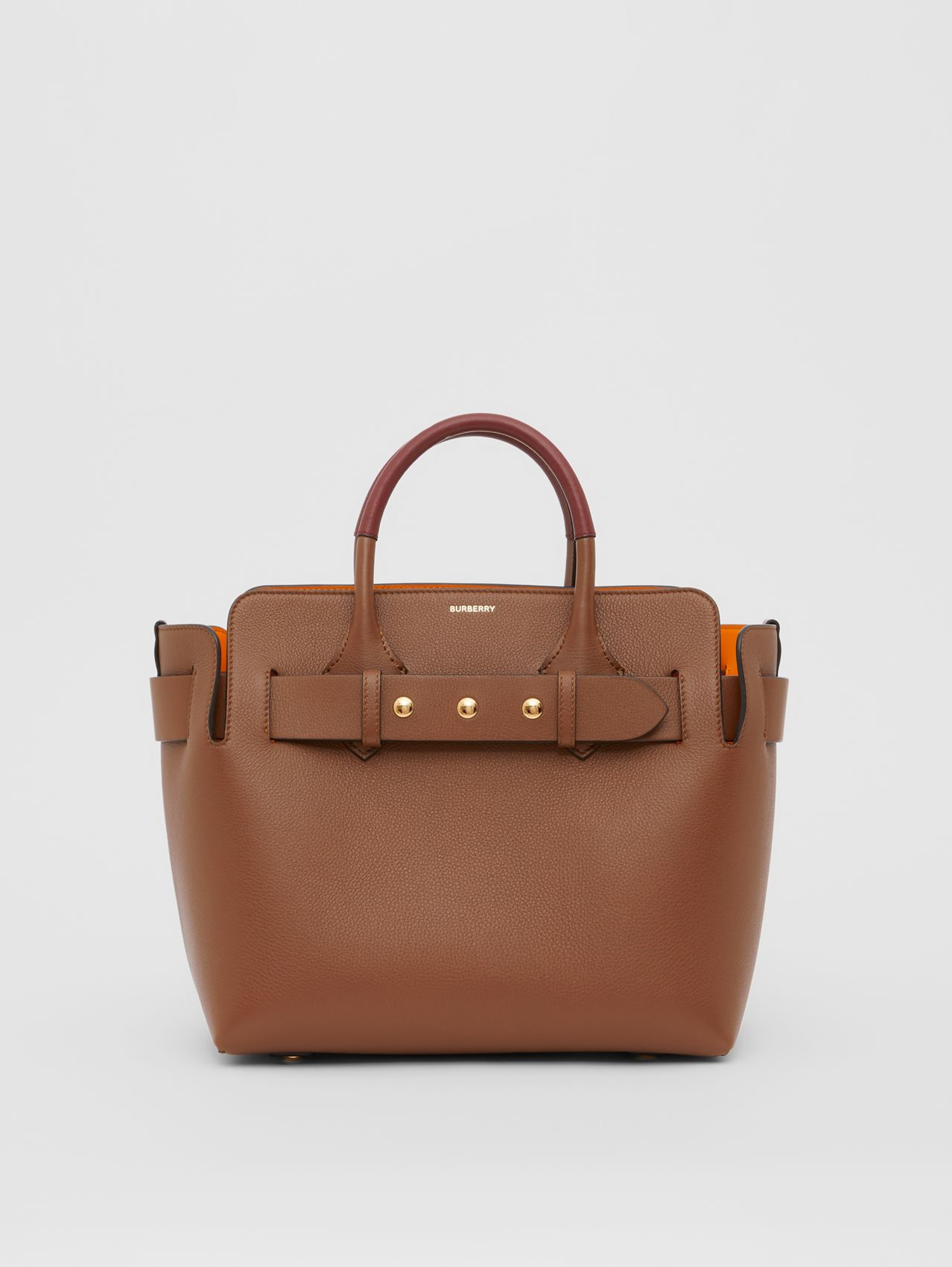The Small Leather Triple Stud Belt Bag in Tan