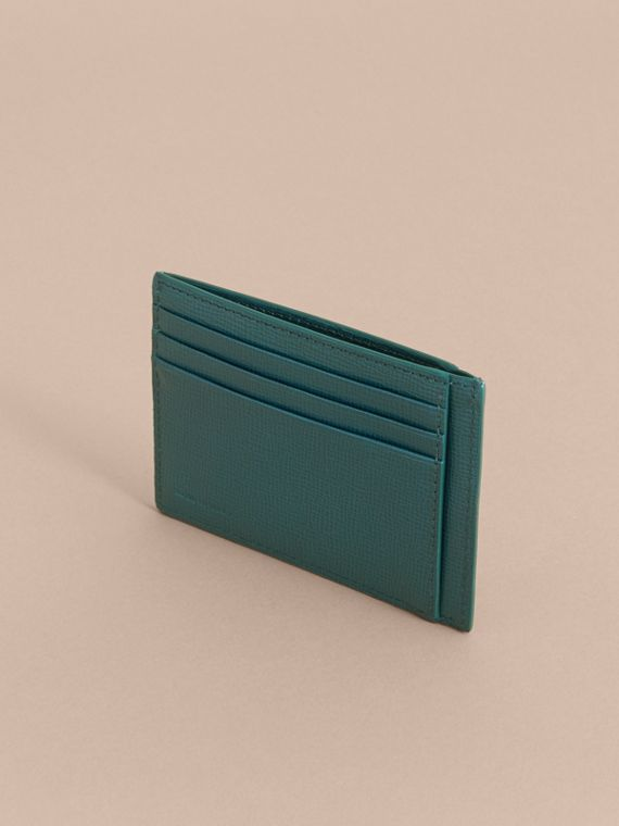 London Leather Card Case in Dark Teal | Burberry - cell image 2