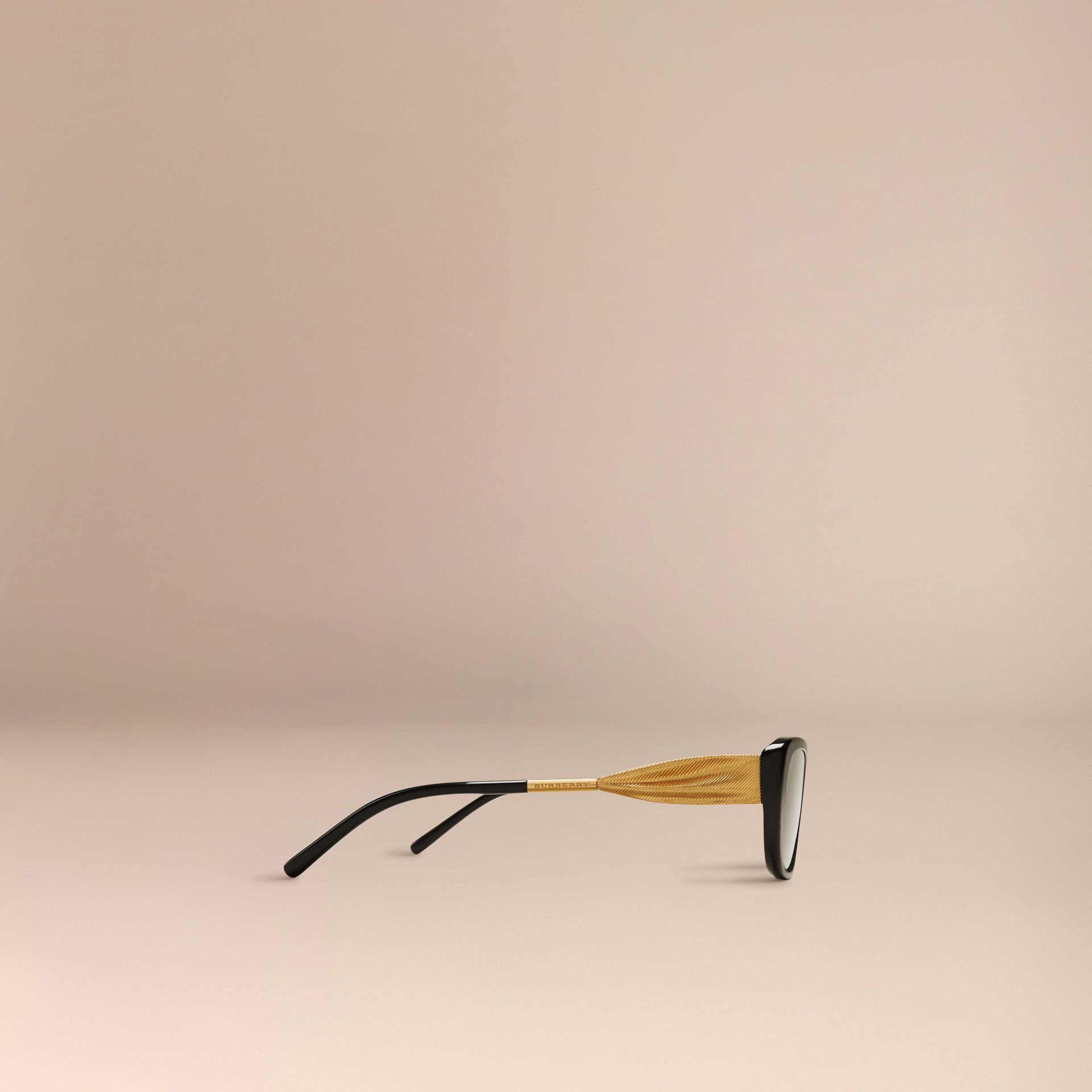 Black Gabardine Collection Oval Optical Frames Black - gallery image 4