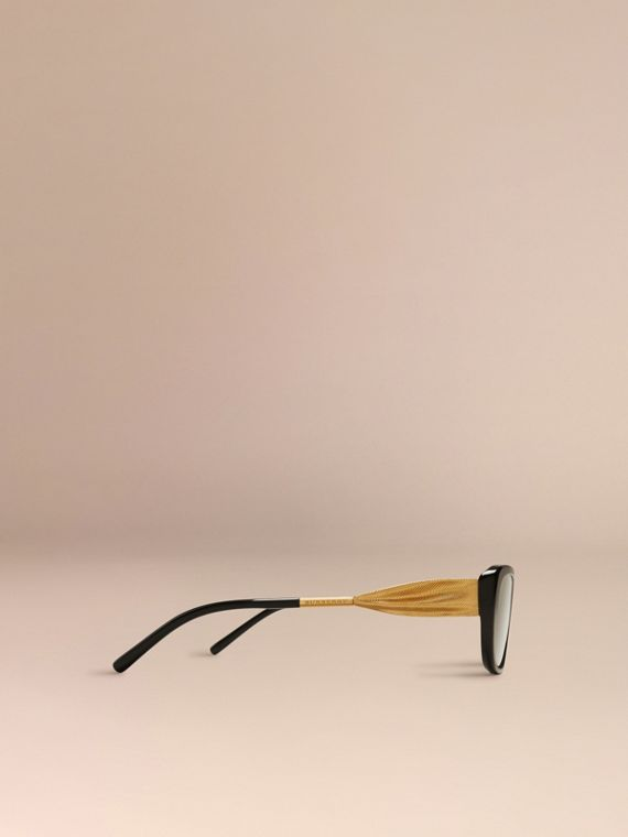 Black Gabardine Collection Oval Optical Frames Black - cell image 3