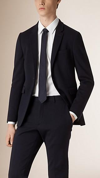 Slim Fit Wool Jersey Jacket
