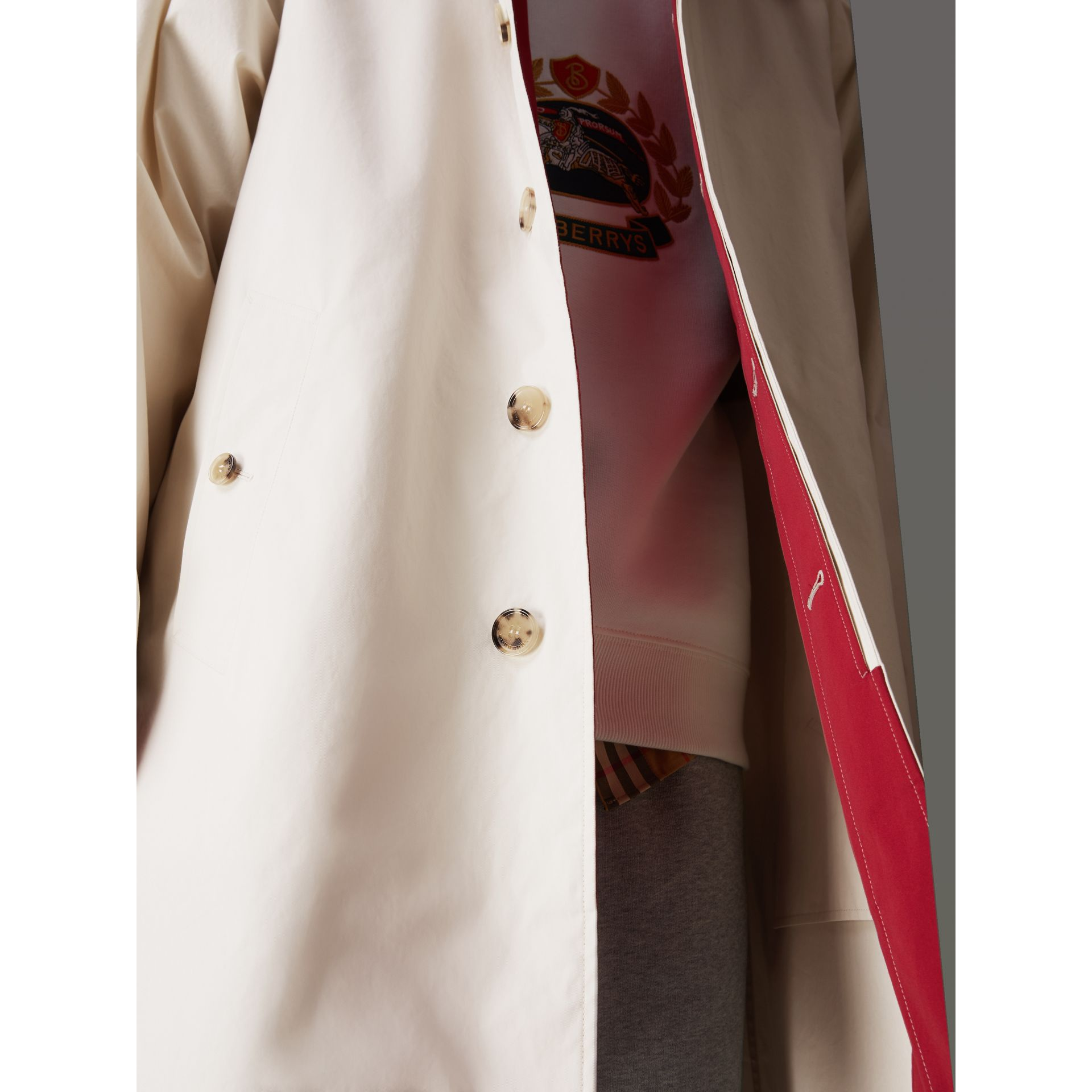 Reissued Waxed Cotton Gabardine Car Coat in Pale Stone - Men | Burberry Singapore - gallery image 5