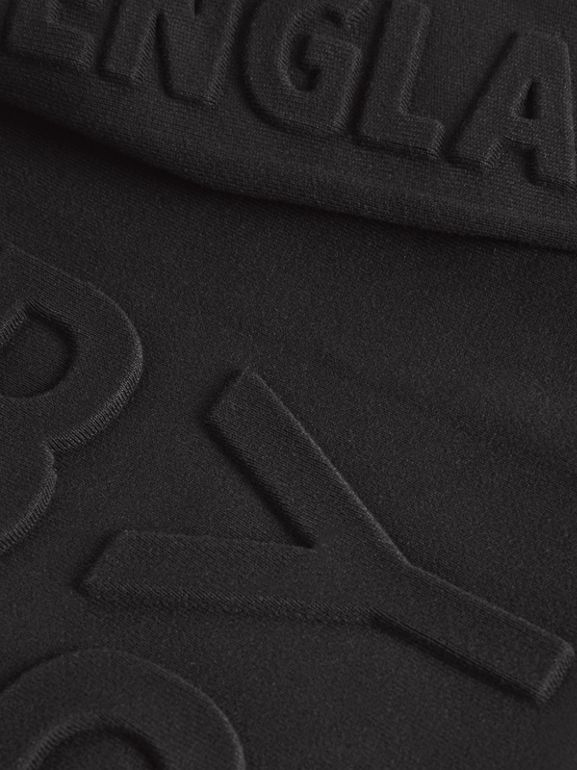 Embossed Logo Cotton Sweatshirt in Black | Burberry Canada - cell image 1