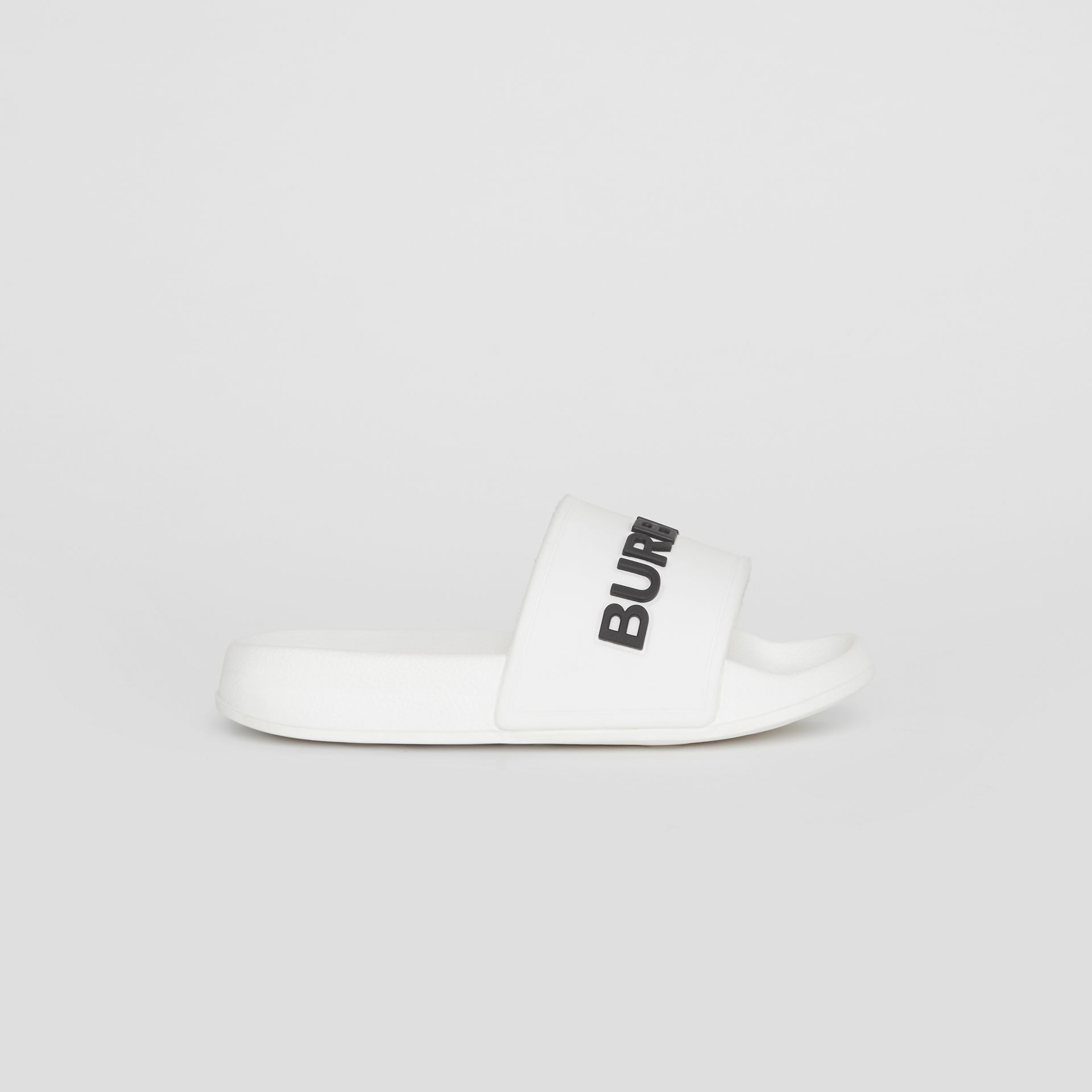 Kingdom Print Slides in Optic White/black - Children | Burberry United States - gallery image 3
