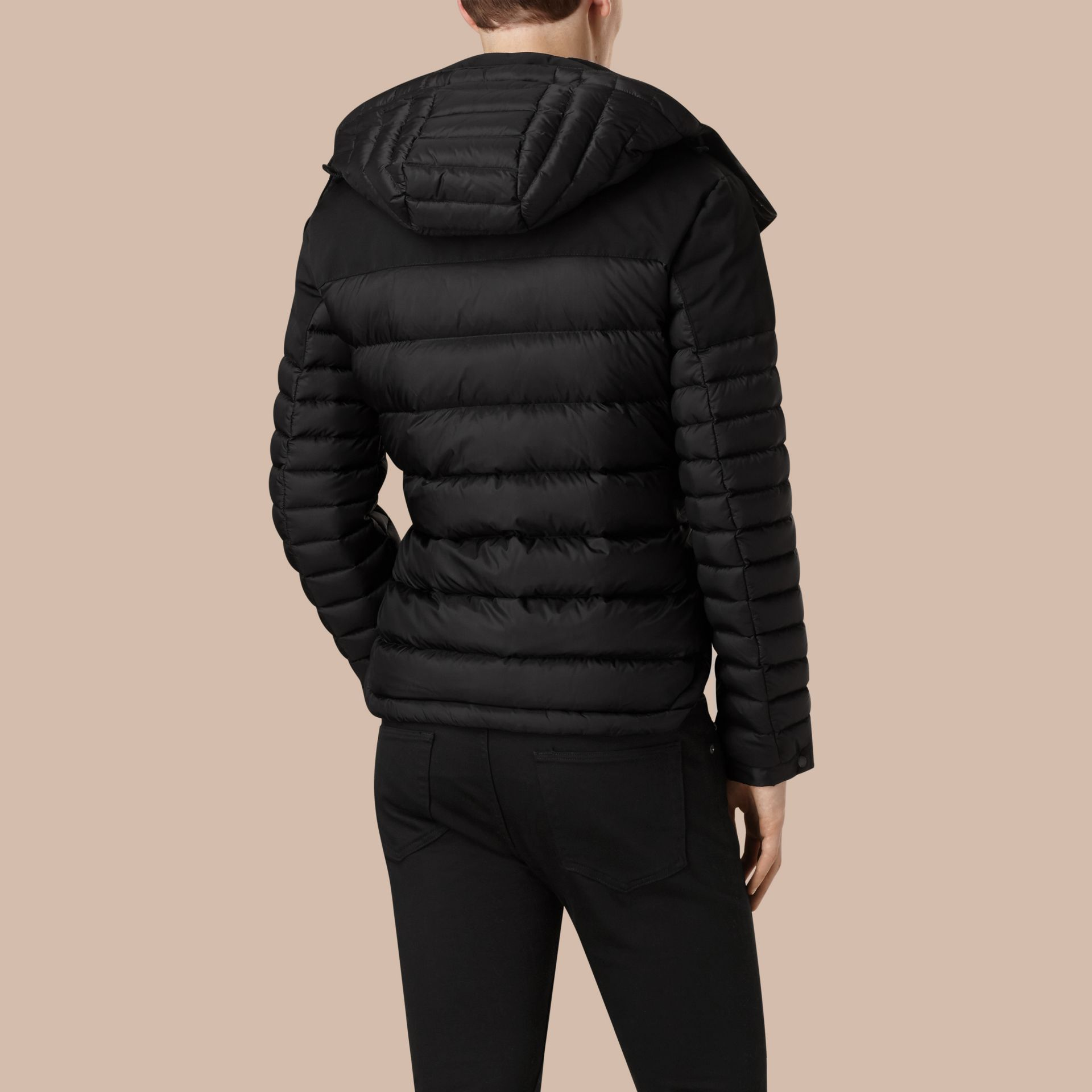 Black Mid-weight Down-filled Technical Puffer Jacket Black - gallery image 4