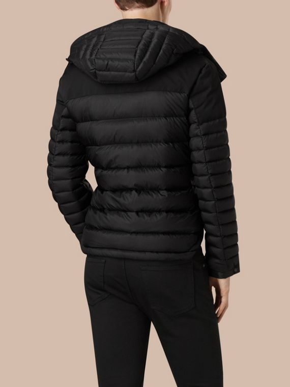 Black Mid-weight Down-filled Technical Puffer Jacket Black - cell image 3