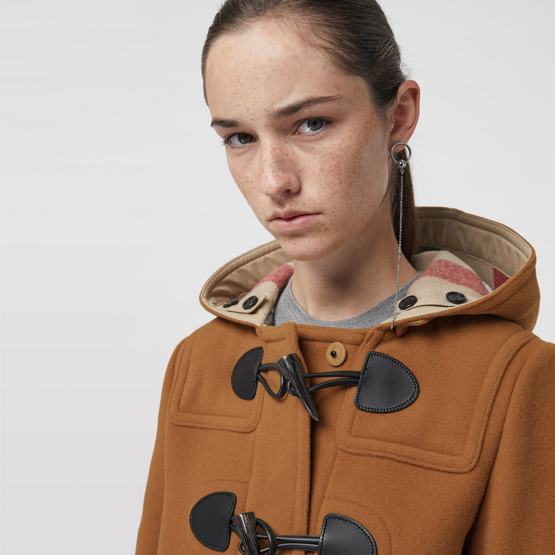 The Mersey Duffle Coat in Mid Camel - Women | Burberry - gallery image 1