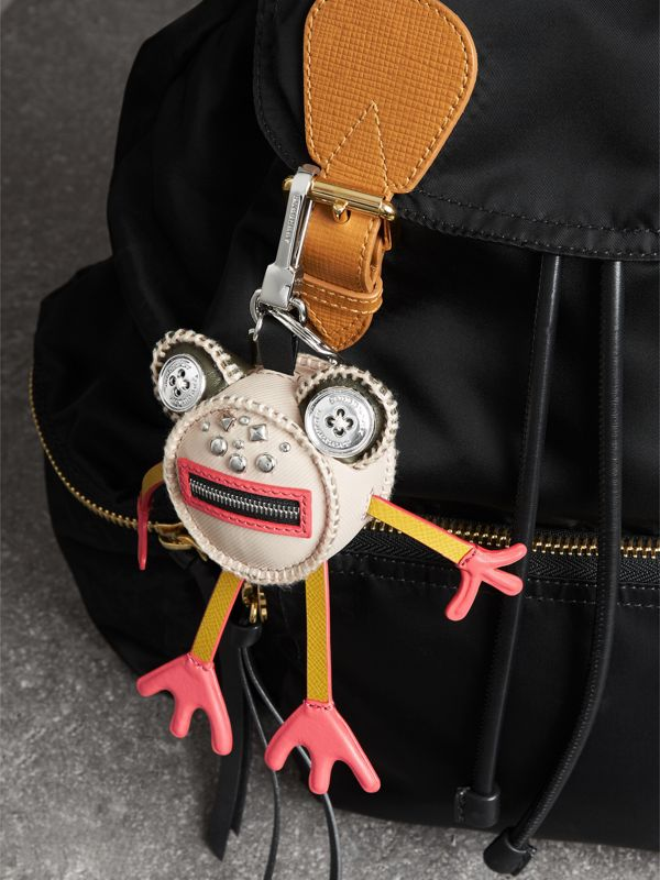 Doris The Frog Leather Charm in Limestone - Women | Burberry - cell image 2