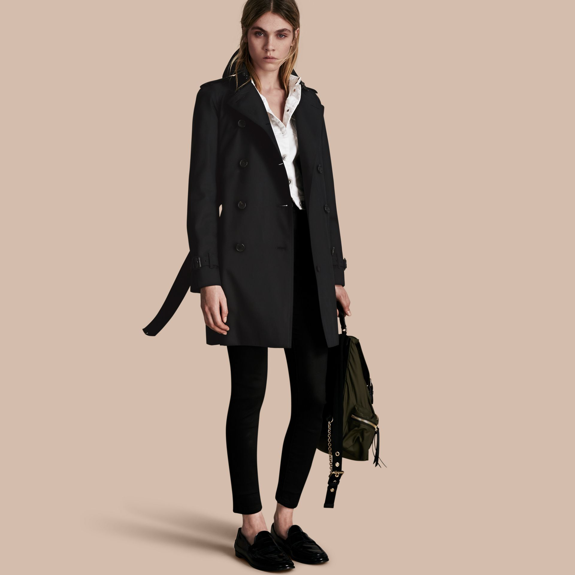 Black The Westminster – Mid-Length Heritage Trench Coat Black - gallery image 1