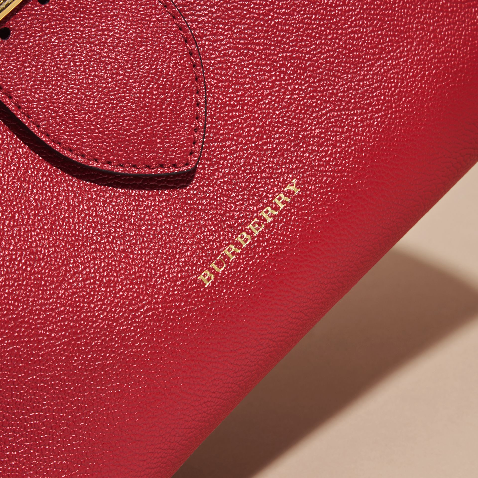 The Medium Buckle Tote in Grainy Leather in Parade Red - Women | Burberry - gallery image 7