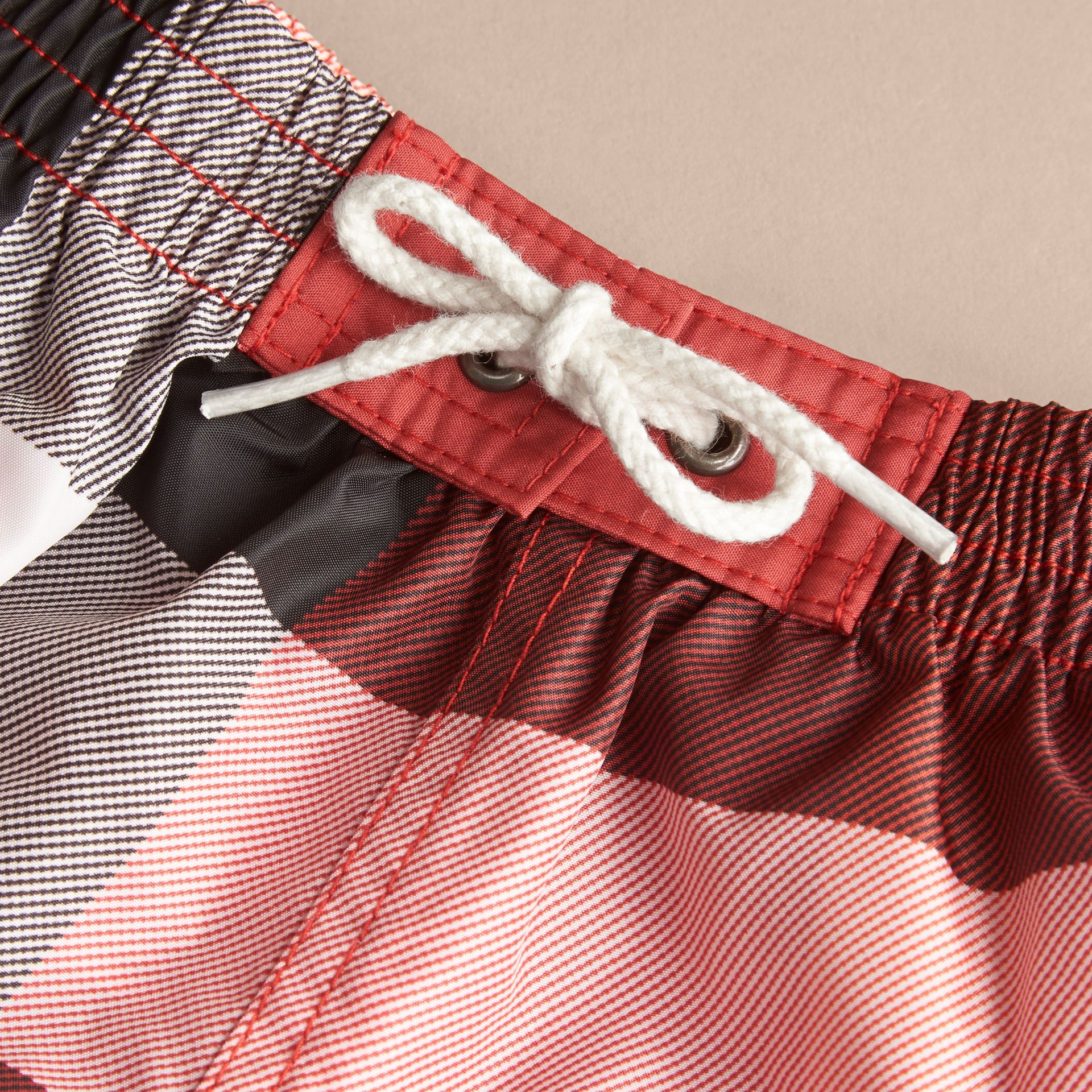 Parade red Check Swim Shorts - gallery image 2